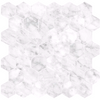 "2"" CARRARA GIOIA HEXAGON POLISHED GLAZED PORCELAIN MOSAIC"