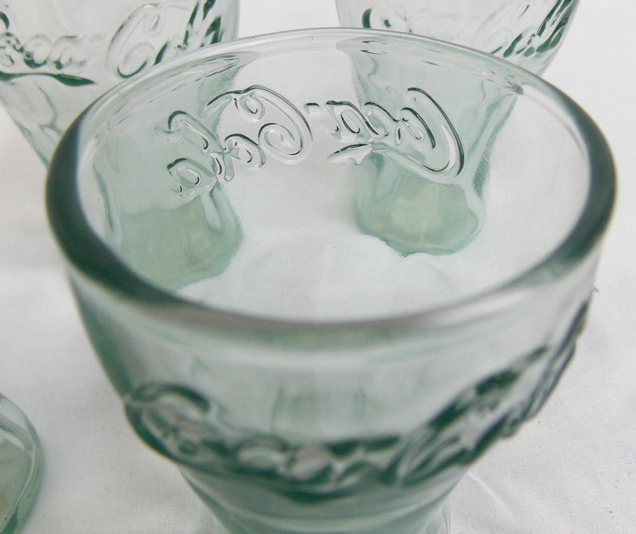 """Shot Glasses   3"""" Tall   Set of 4   Classic Coco-Cola"""