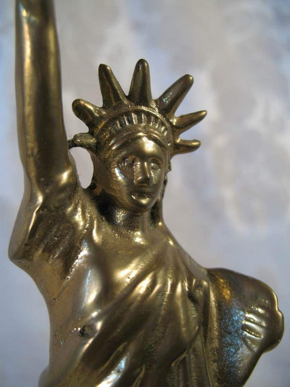 Solid Brass&Marble   Paperweight   Statue of Liberty