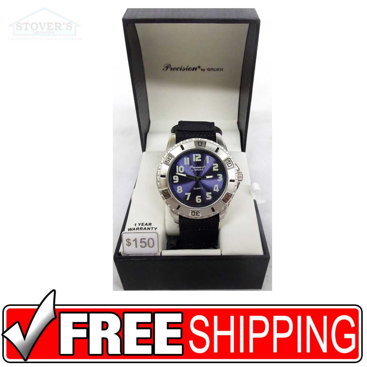 Men's Watch -Silver and Navy Precision by Gruen