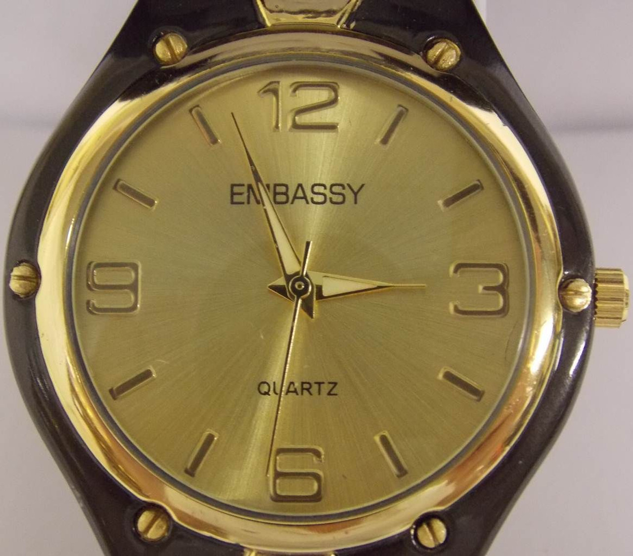Men's Watch - Embassy Gold and Charcoal Grey