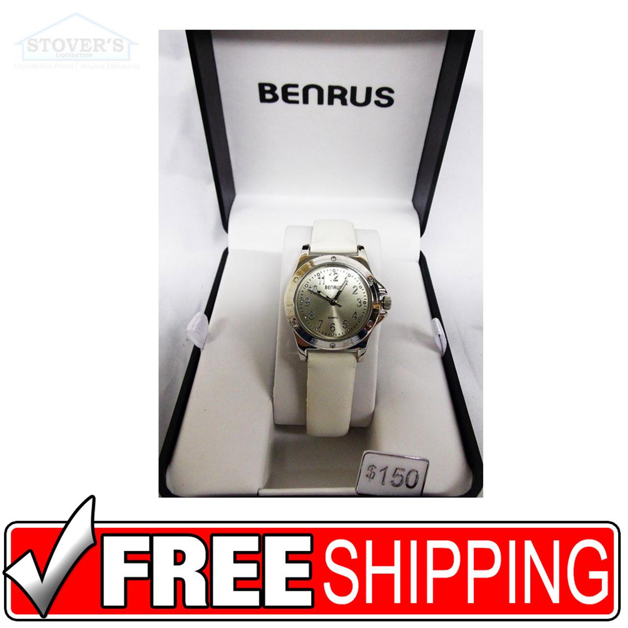 Women's Watch - Benrus Silver White Strap