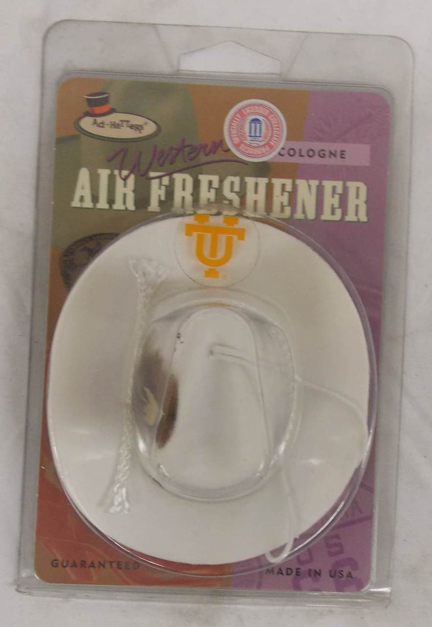 Refillable Cologne Scented Tennessee Vols Cowboy Hat Air Freshener NEW