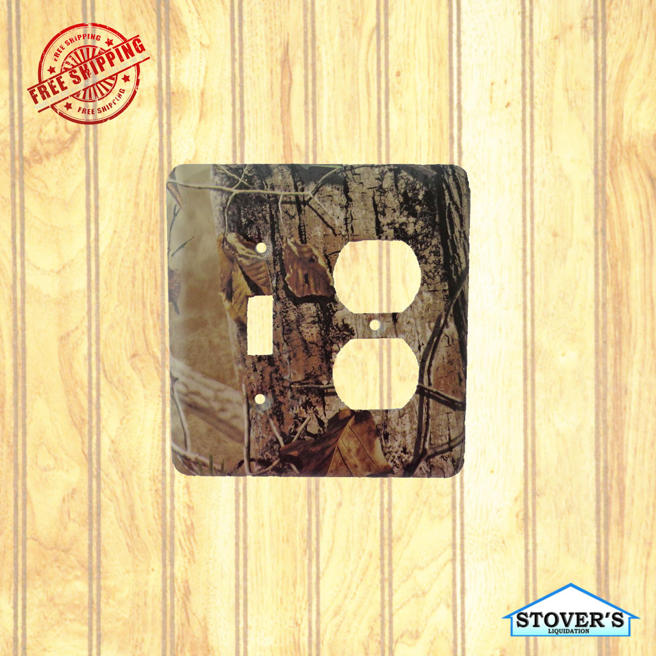 Light & Socket Plate   Realtree APG HD   Outdoors-Themed   NEW