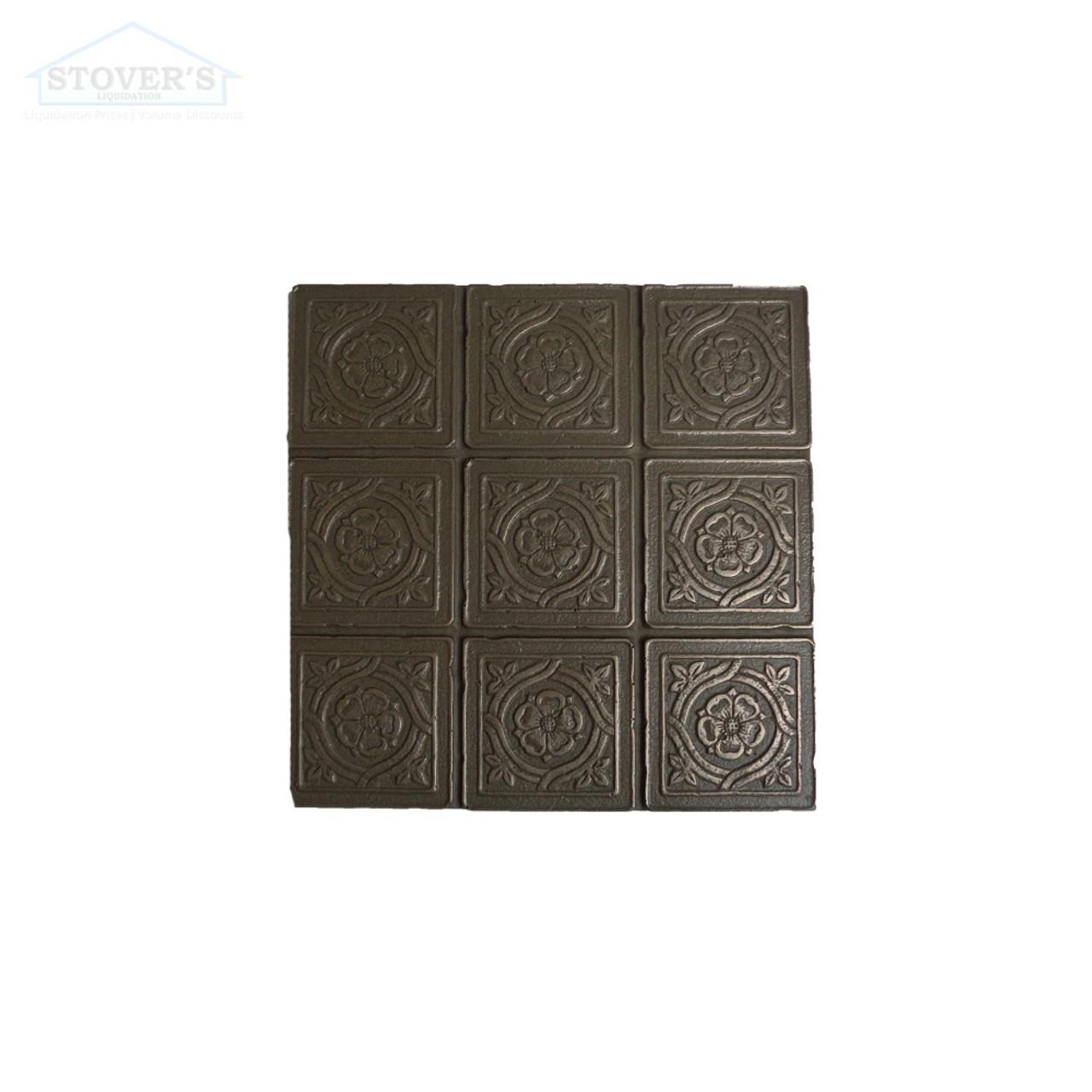 6x6 Deco   Metal Look Decos   Serramnte Scored VIC Bronze   TILE376028003