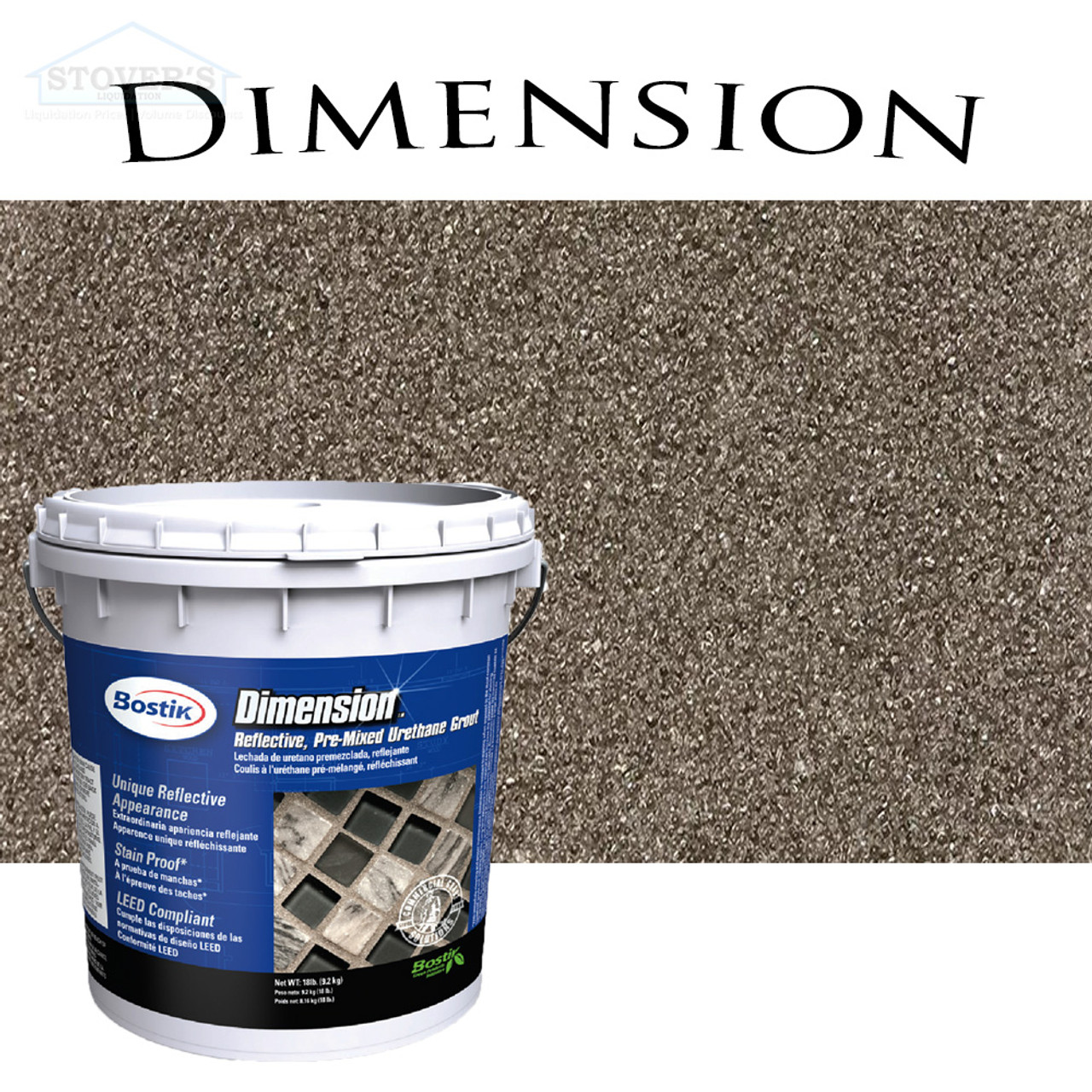 Bostik Dimension | Pre-Mixed Grout | Hematite 671 | FREE SHIPPING