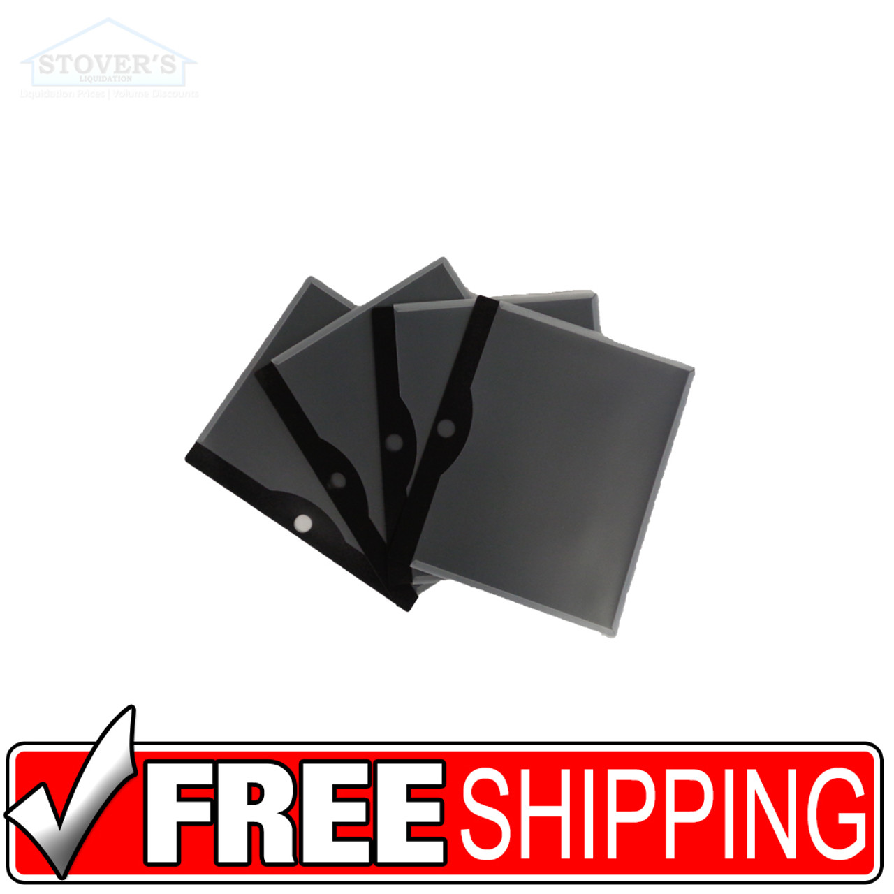 File Protector Sleeve | Black | Box of 20 | Free Shipping