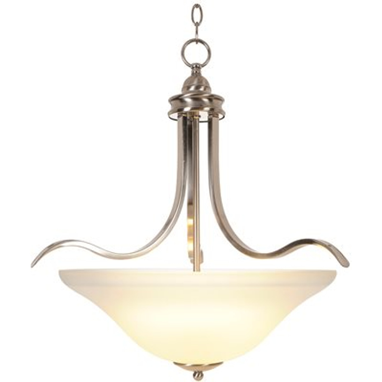 MONUMENT 617247  SANIBEL BRUSHED NICKEL PENDANT LIGHT | BROWN PALLET