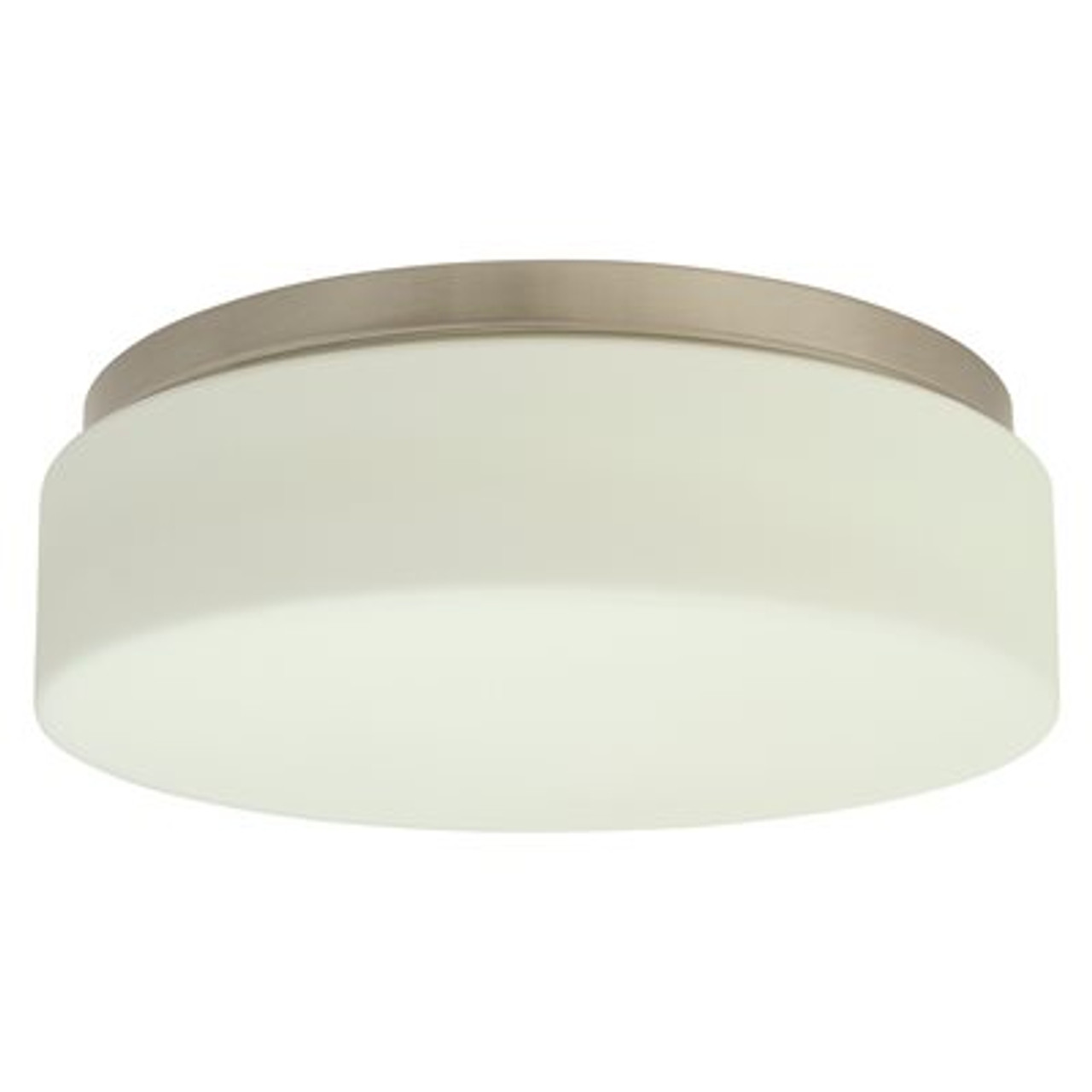 MONUMENT 2479576 2-LIGHT BRUSHED NICKEL FLUSH MOUNT | BROWN PALLET
