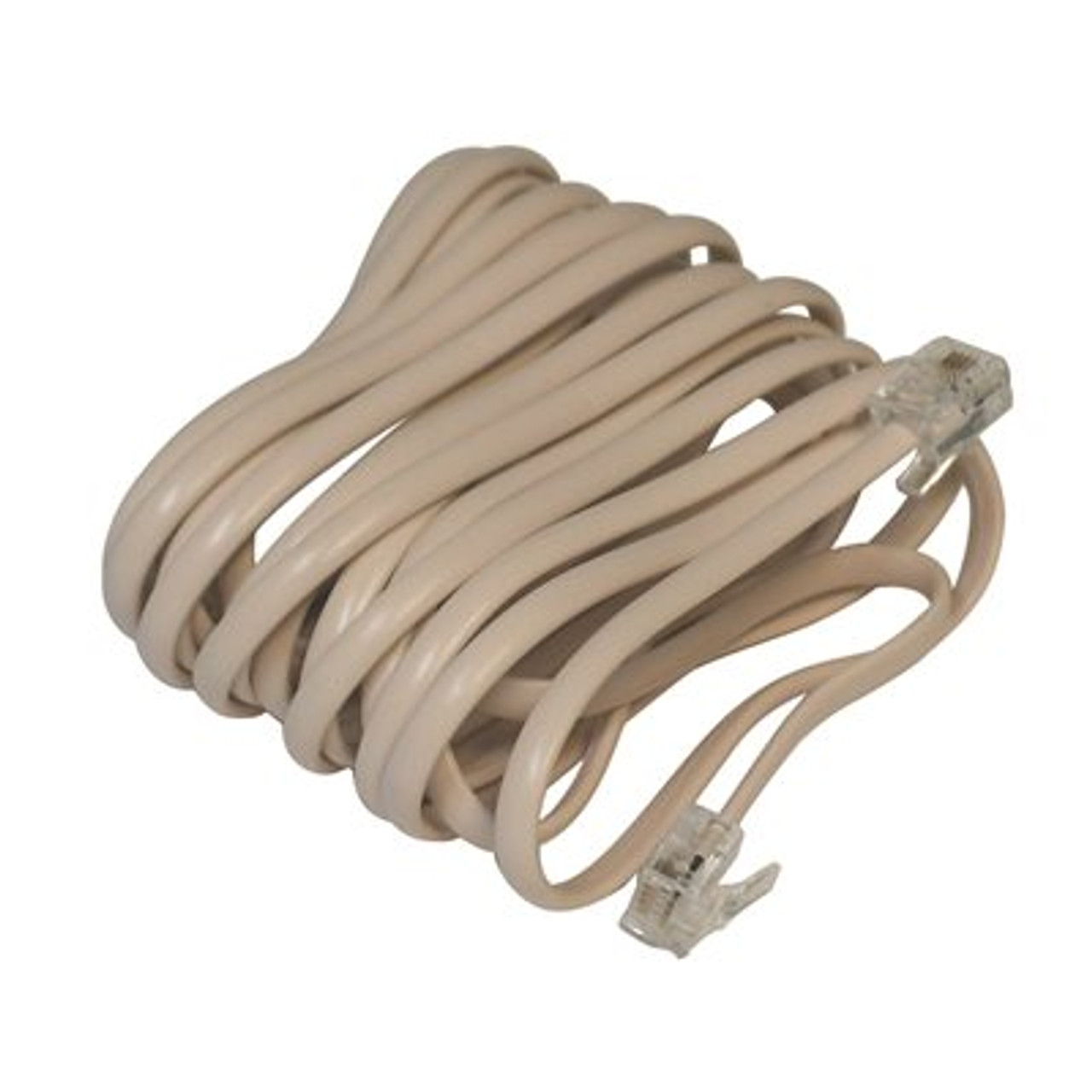 """Preferred Industries   Single 25"""" Telephone Extension Cord   Brown Pallet"""