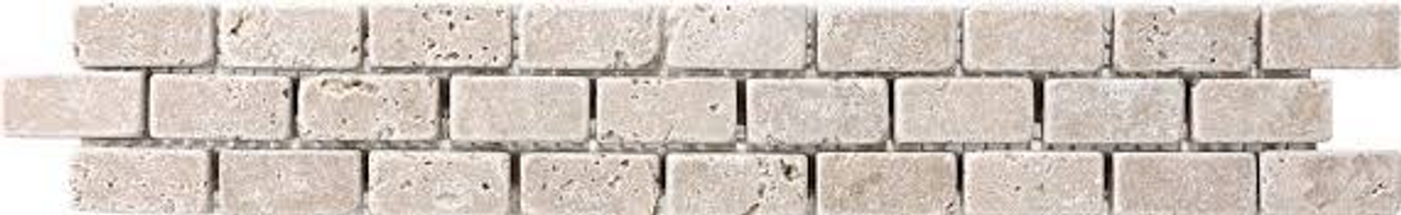 Travertine Noce Brick Listello   2 x 12   MHT235539LISTL