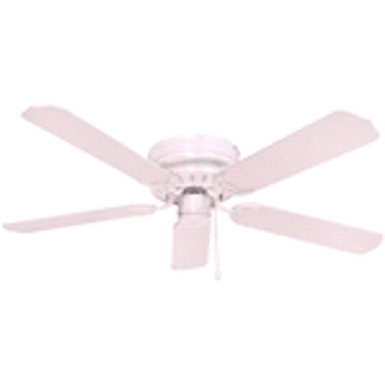 "Royal Cove | 52"" Flush Mount Ceiling Fan | White | 076335824031"