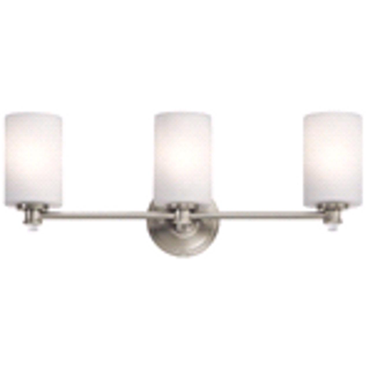 Kichler Joelson | 3-Light Vanity Fixture | Brushed Nickel | 783927491631