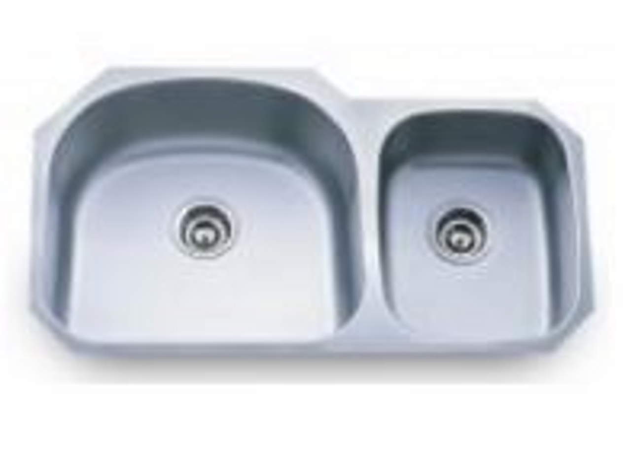 Stainless Steel Sink   Under Mount Sink   Double Bowl   FOBTN  