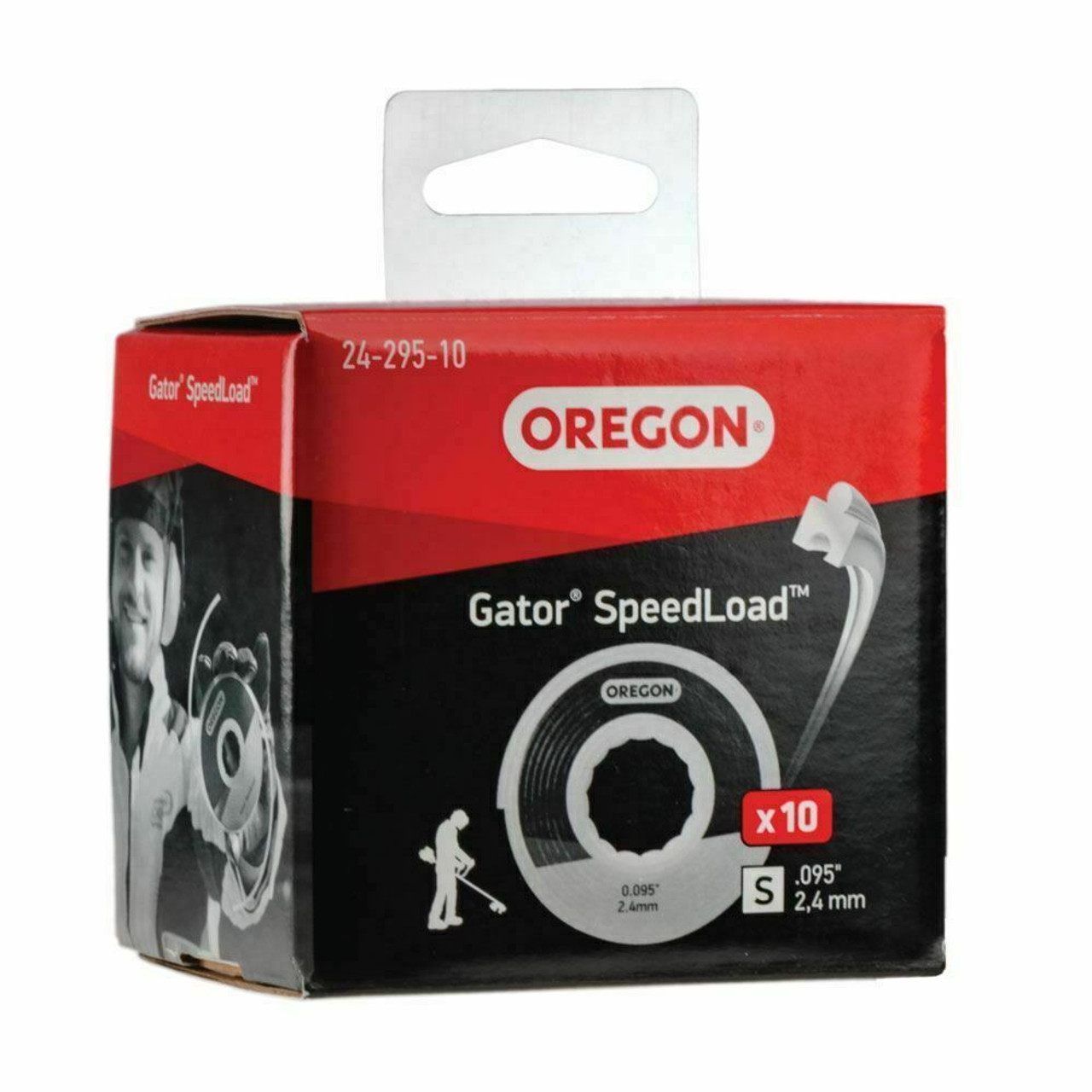 "10 Pack Oregon 24-295-10 Gator SpeedLoad Small Disc .095"" Trimmer line"