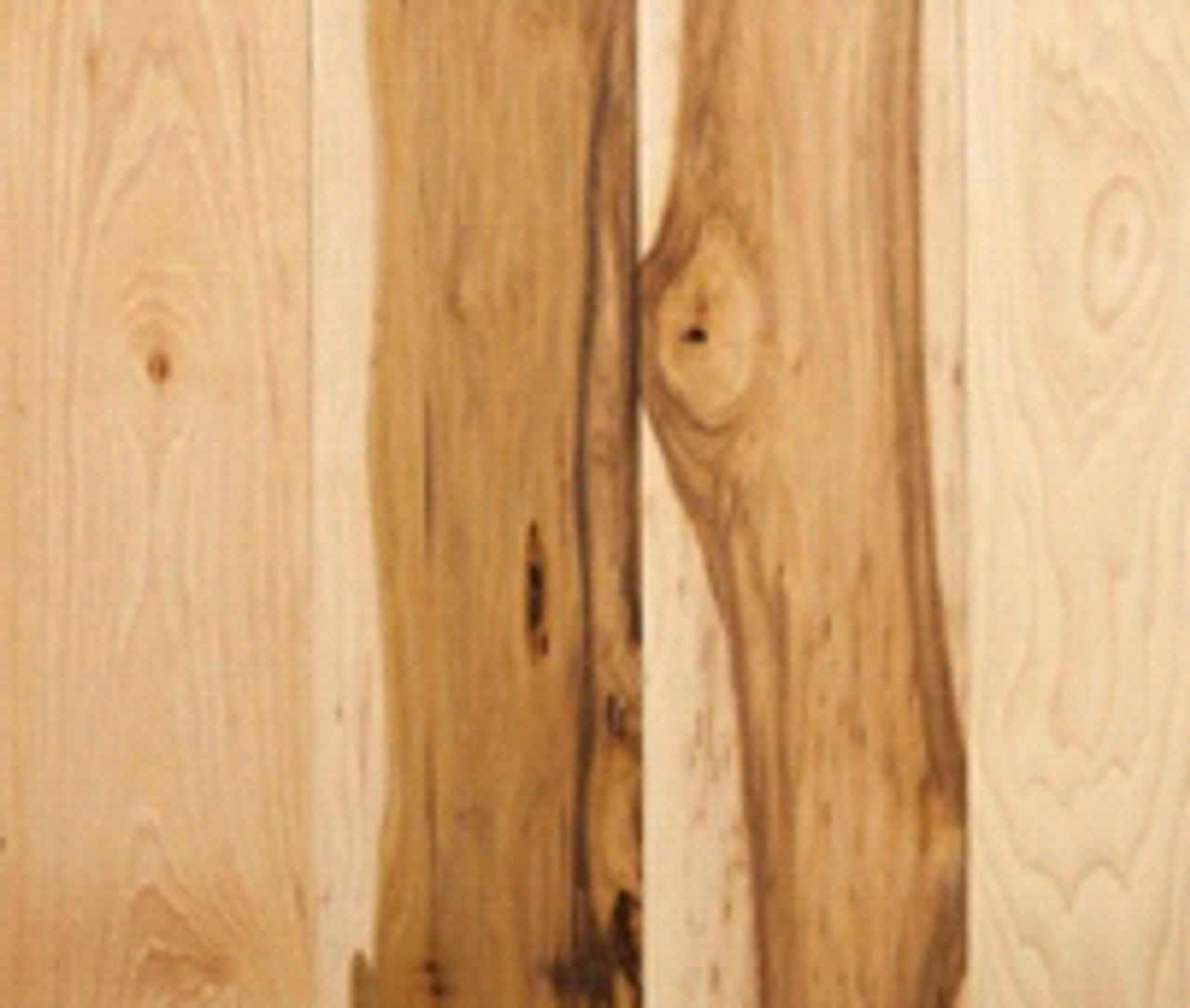 Sawn Hickory Natural   Engineered Hardwood   Value Collection    5'' X 1/2'' Cabin Grade [39 SF / Box]