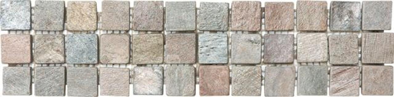 AN 1001-0039 3X12 COPPER SLATE LISTELLO | Stone Deco