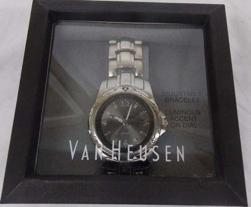 Men's Watch - Charcoal Gray and Silver Van Heusen