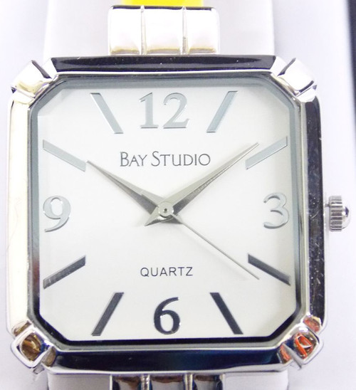 Women's Watch - Hard Cut Edge Bay Studio Silver