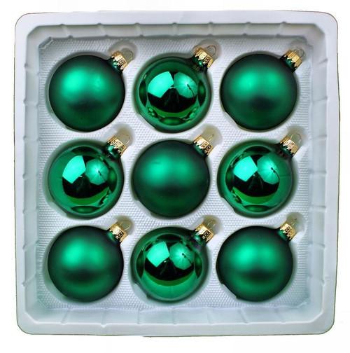 Designer's Studio Green Glass Ball Ornaments
