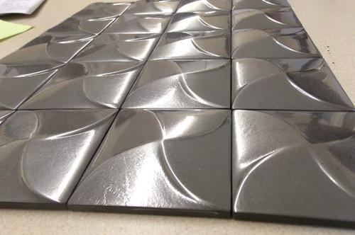 3x3 Deco   Nickel   Pin Wheel   Case of 20   Metal Look   181155000000