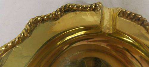 Set of Vintage Hollywood Regency Solid Brass Cigarrette Ashtrays NEW