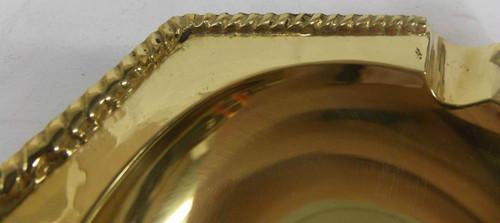 Set of Vintage Hollywood Regency Solid Brass Cigarrette Ashtrays NEW 150900816030