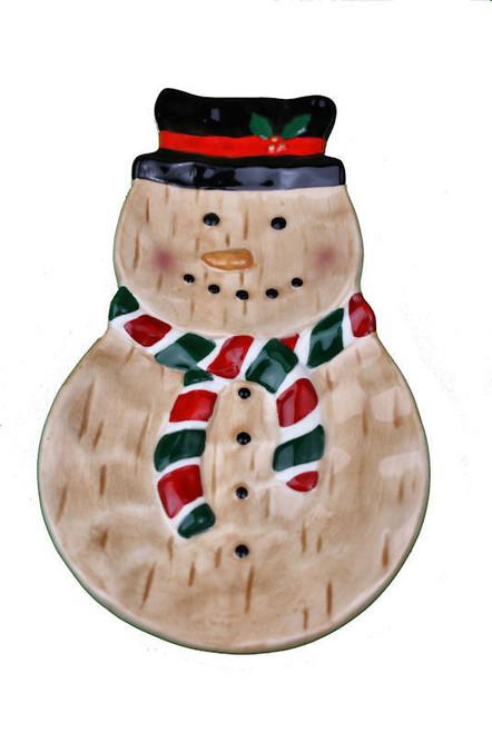 Christmas Ceramic Snowman Spoon Rest