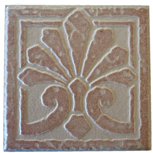 4x4 Porcelain Deco | Interceramic | Set of 4 | Ember