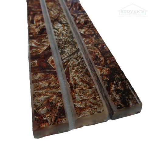 "Jeffrey Court | Chocolate Liner | 8"" Liner | 3 pack | 99083"