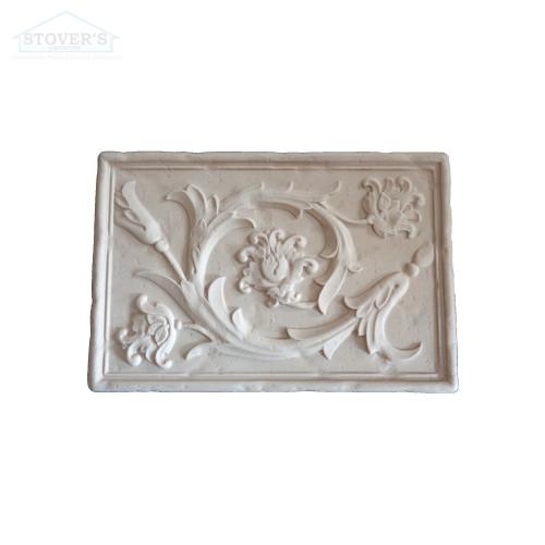 8x12 Deco | Metal Look | Acanthus Mural Travertine | S2M124-01