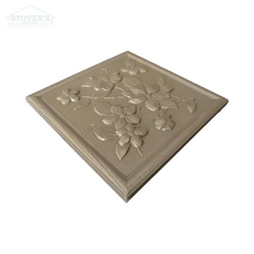 4.25x4.25 Deco | Metal Look Decos | Floral VIC Bronze BSAT | TILE367028003
