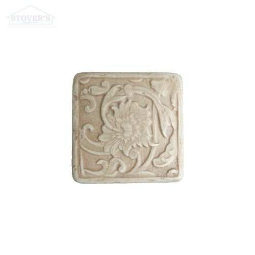 2x2 Deco | Metal Look Decos | Fabrege Insert Travertine | STND123030201