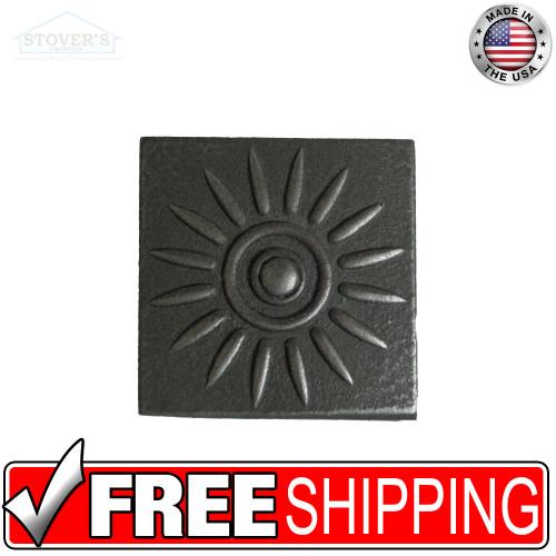 2x2 Deco | Metal Look Decos | Sun Medallion | TILE343020003