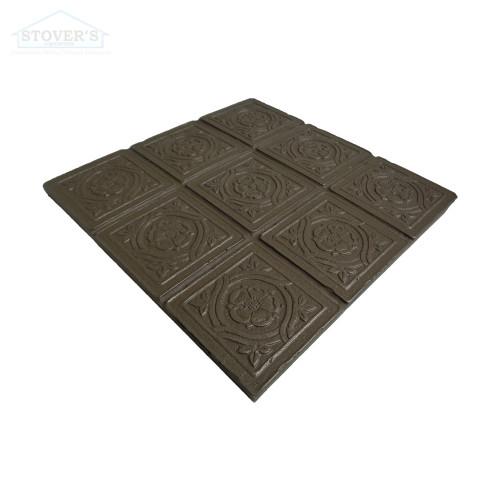 6x6 Deco | Metal Look Decos | Serramnte Scored VIC Bronze | TILE376028003