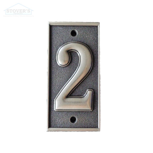 2.5x5.5 | Metal Look Decos | House Numbers | Pewter