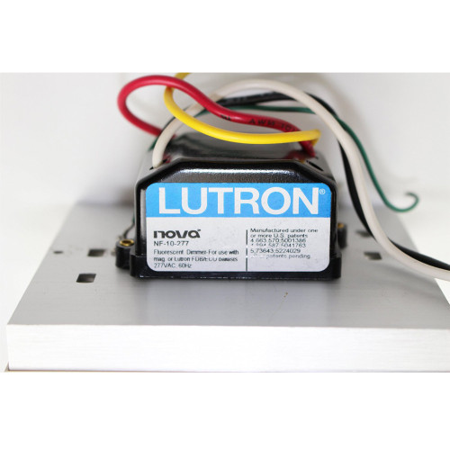 Lutron | Nova 277V 6A Preset Fluorescent Dimmer Wall Switch | White | Free Shipping