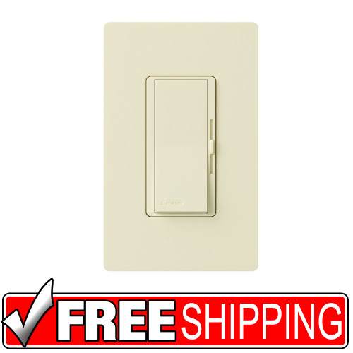 Lutron | Diva 300-watt Single Pole Electronic Low-Voltage Dimmer | Ivory | Free Shipping