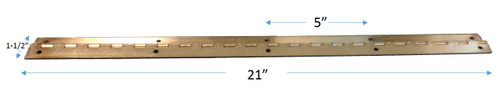 "24k Gold Plated Piano Hinge - 21"" l x 1-1/2"" wide - FREE SHIPPING!"