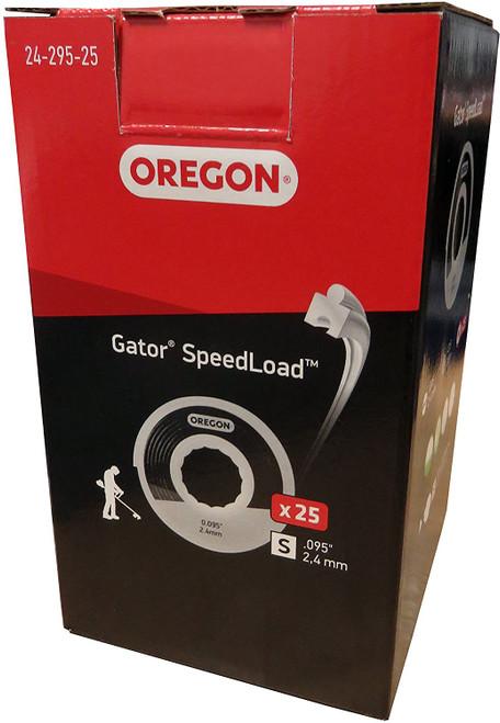 25 Pack Oregon 24-295-25 Gator SpeedLoad Trimmer Line.095 SM # 24-295-25
