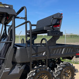 Our Ranch Armor High Seats for the Can-Am Defenders work WITHOUT modification between the regular beds and long bed models.