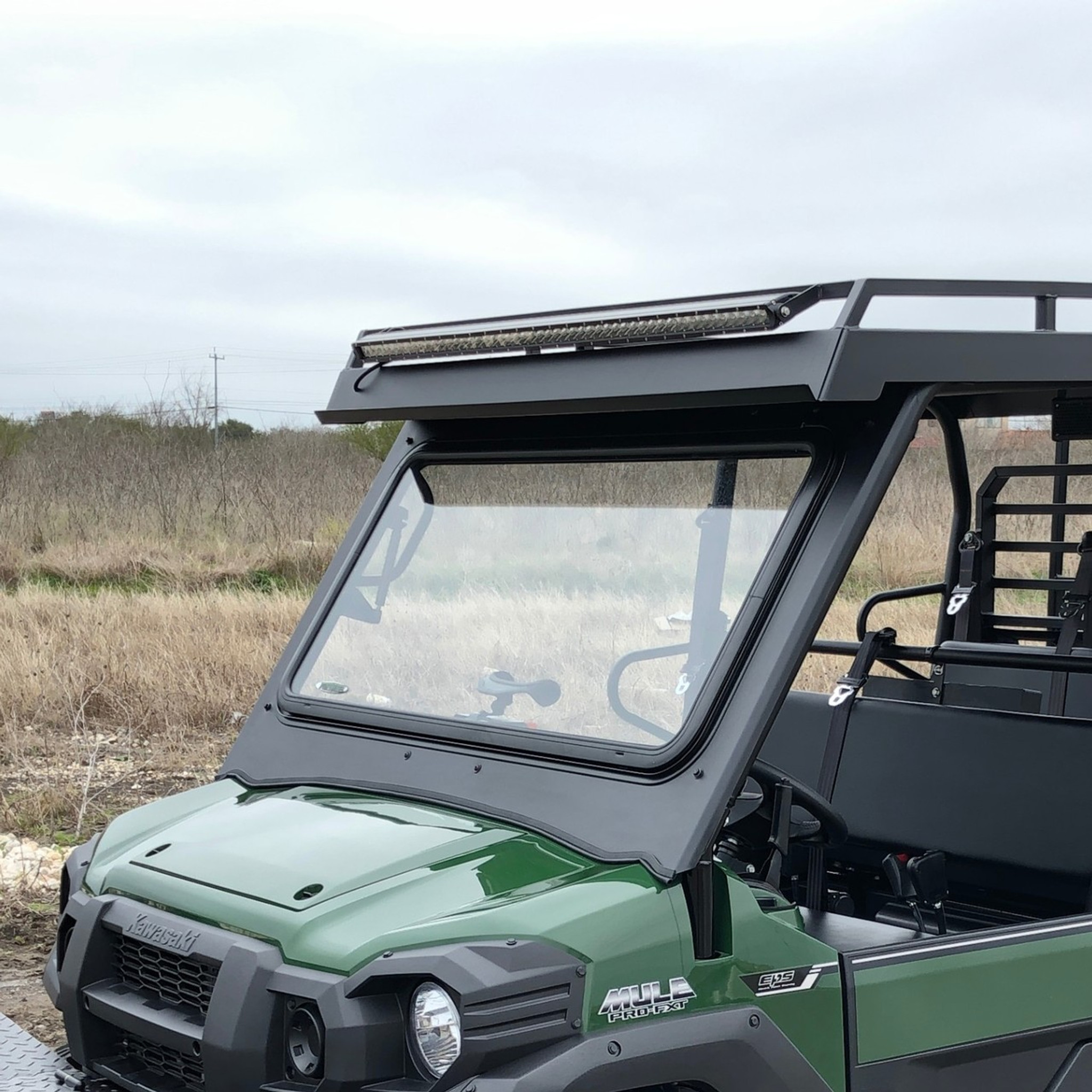 Fortress Tip Out Windshield Kawasaki Mule Pro (FX & FXT