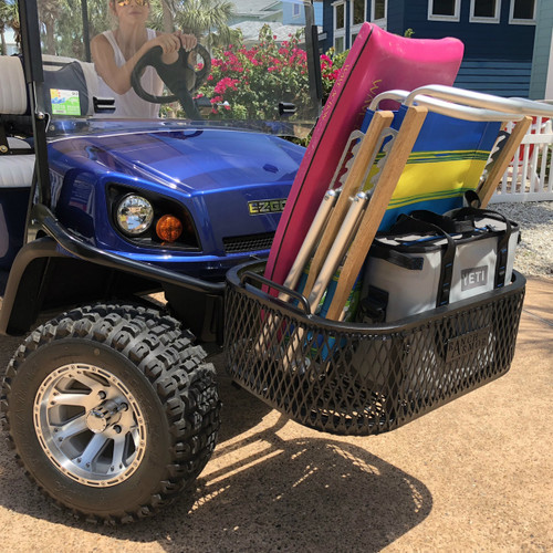 EZ GO Golf Cart Aluminum Front Cargo & Storage Basket