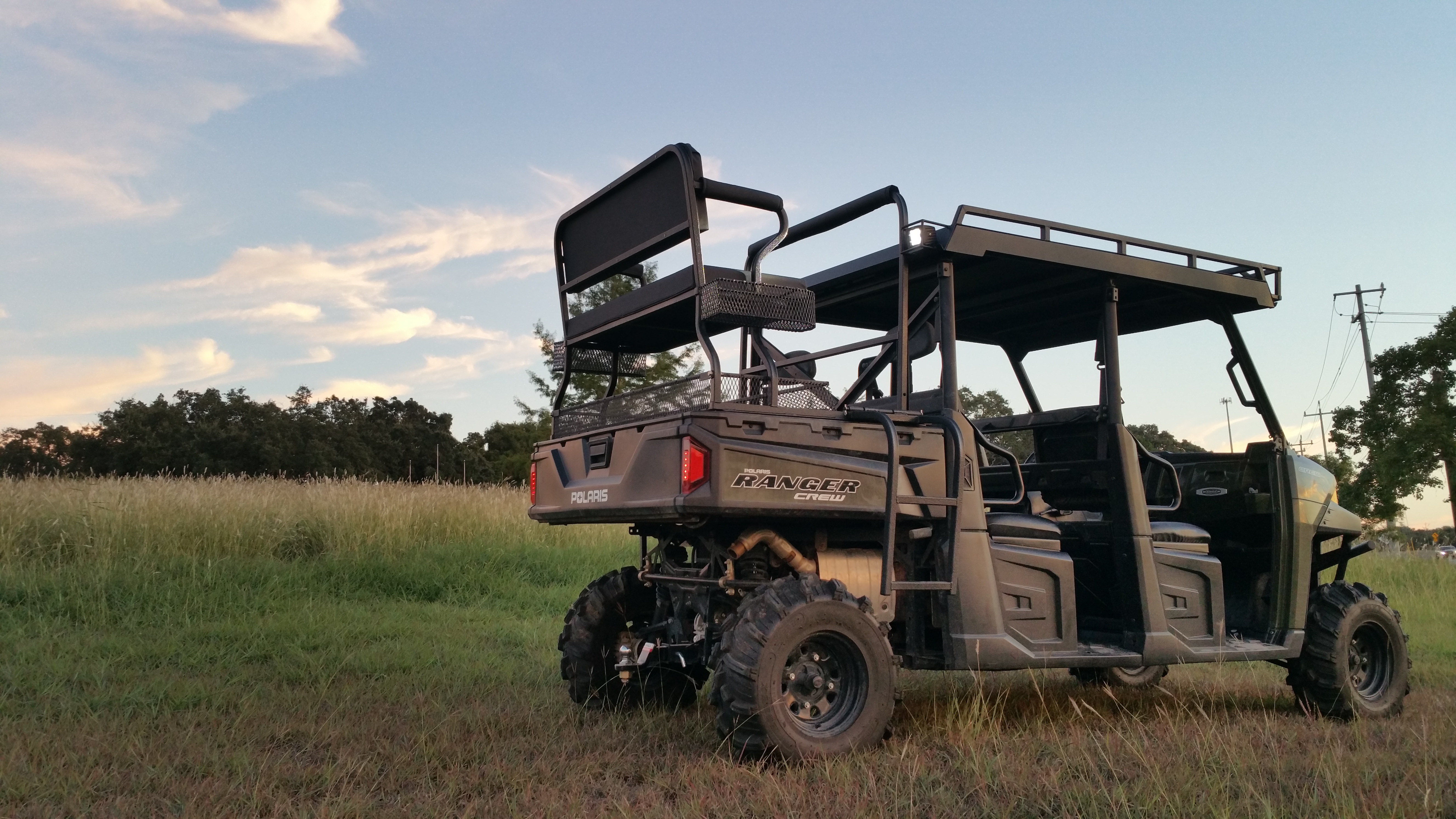 Polaris Ranger Lock and Ride UTV High Seat with crew metal roof