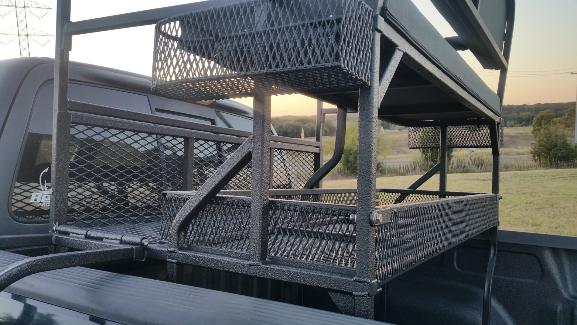 Pick-Up High Seat Close Up of Basket and Welds Side View