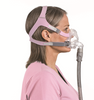 """Quattro™ FX for Her  Full Face  CPAP Mask  System side by ResMed  """" ©ResMed 2013 Used with Permission"""""""