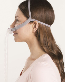 CPAP Nasal Pillow Mask P10 for Her -side view by ResMed