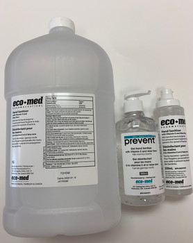 Hand Sanitizer with Vitamin E and Aloe Vera - 1 Gallon Displayed with 250ml and 500ml for reference only