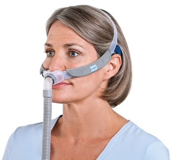 """Swift™ FX  Nasal Pillow for Her Complete System -side view by ResMed    """" ©ResMed 2013,Used with Permission """"."""