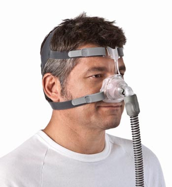 """Mirage™ FX  Nasal CPAP Mask Complete System  on a male user  by ResMed - 2103  """" ©ResMed 2013 Used with Permission"""""""